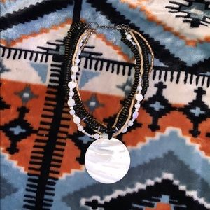 Jewelry - mother of pearl wooden necklace